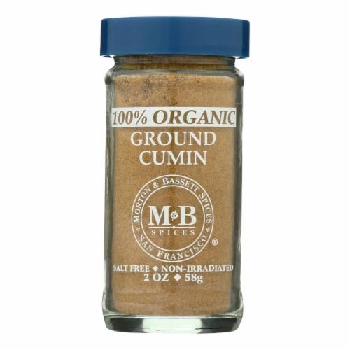 Morton and Bassett Organic Ground Cumin - Cumin - Case of 3 - 2 oz. Perspective: front