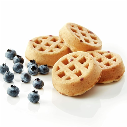 Pillsbury Blueberry Bash Mini Waffles, 2.47 Ounce -- 72 per case. Perspective: front