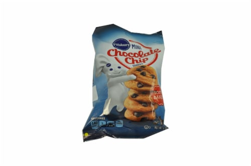 Pillsbury Soft Baked Mini Chocolate Chip Cookies, 18 Ounce -- 9 per case. Perspective: front