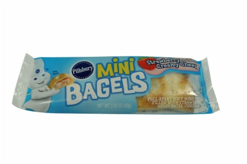 Pillsbury Mini Bagels, Strawberry Creamy Cheese, 2.43 Ounce -- 72 per case. Perspective: front