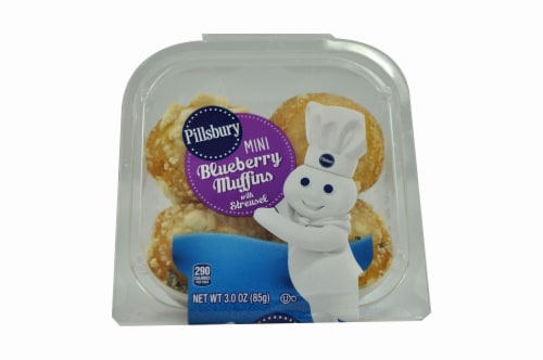 Pillsbury Minis, Blueberry Muffins, 3 Ounce -- 12 per case. Perspective: front