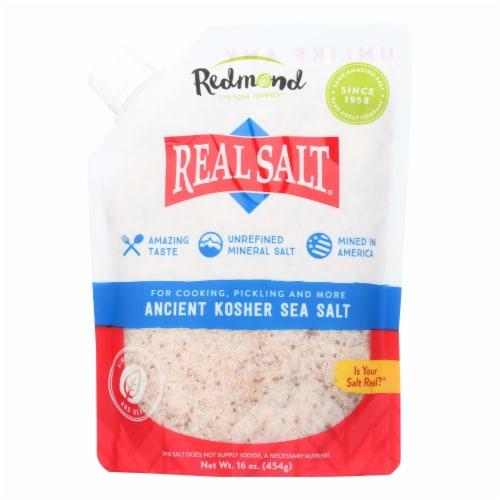 Real Salt Gourmet Kosher Sea Salt - 16 oz - Case of 6 Perspective: front