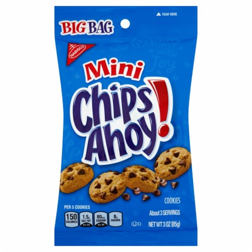 Chips Ahoy Mini Chocolate Cookies , 3 ounce -- 36 per case. Perspective: front