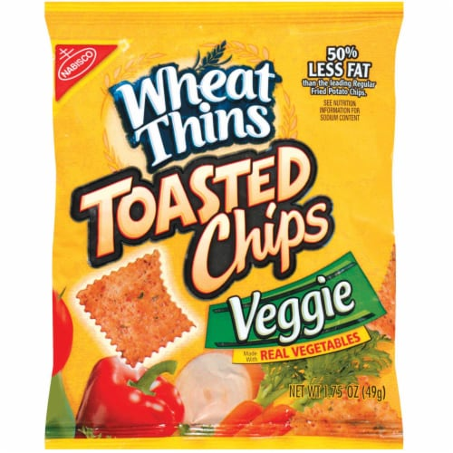 Wheat Thins Veggie Toasted Chip - 1.75 oz. bag, 60 per case Perspective: front