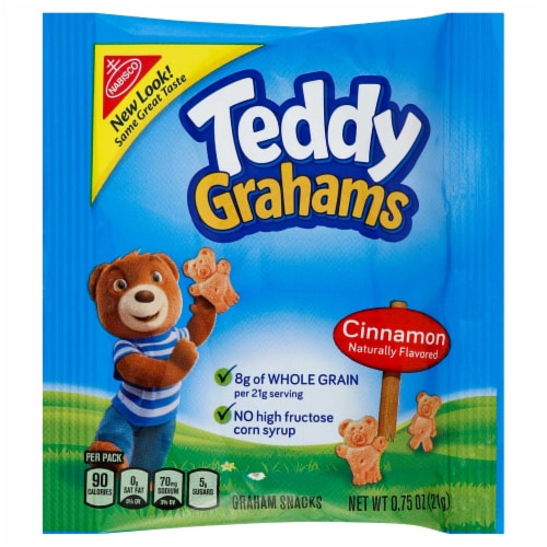 Teddy Grahams - Graham Cracker Cinnamon Cookies 150 Case .75 Ounce Perspective: front