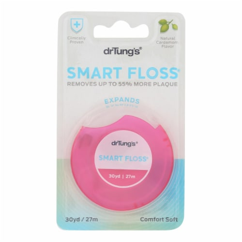 Dr. Tungs Smart Floss - 30 Yards - Case of 6 Perspective: front