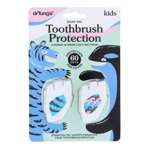 Dr. Tung's Toothbrush - Kids - Case of 6 - 2 Pk Perspective: front