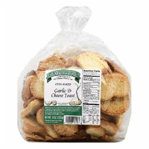Mussos Garlic & Cheese Toast, 10 OZ (Pack of 6) Perspective: front