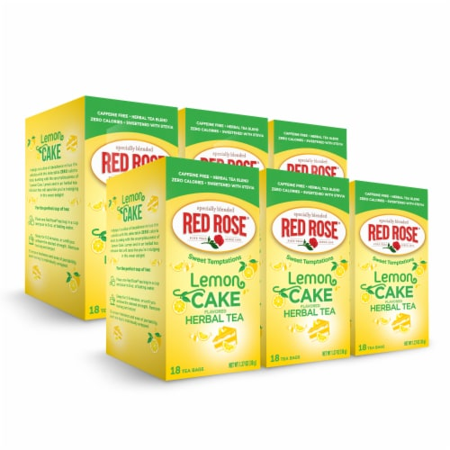 Red Rose Sweet Temptations Lemon Cake 18ct - 6 pack Perspective: front