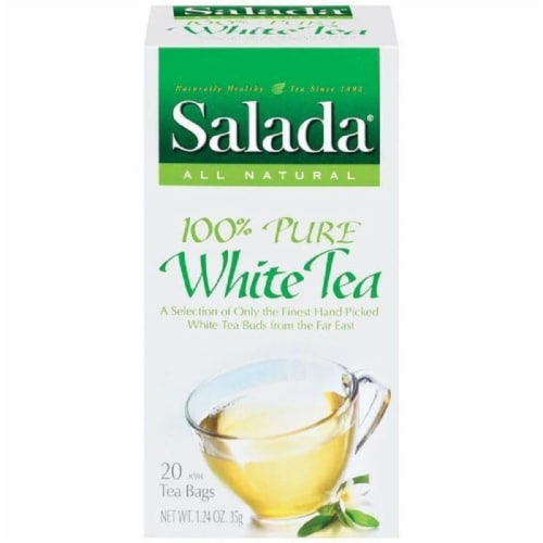 Salada 100% Pure White Tea Tea Bags 20 Ct (Pack of 6) Perspective: front