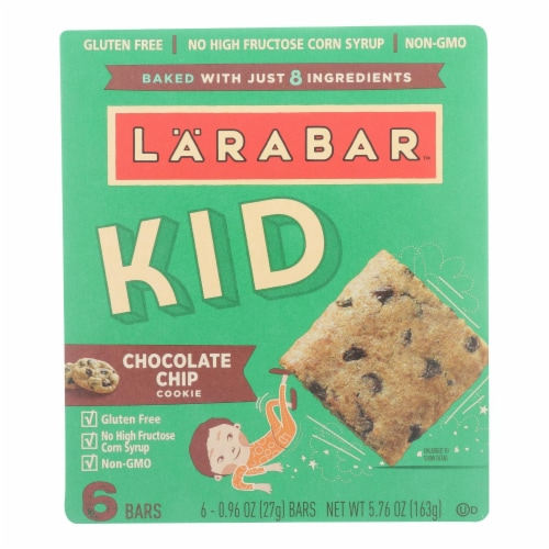 Larabar Kids Chocolate Chip Cookie Bars (8 Pack) Perspective: front