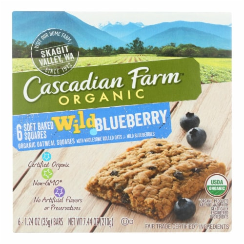 Cascadian Farm - Soft Baked Squares - Wild Blueberry - Case of 8 - 6/1.24oz. Perspective: front