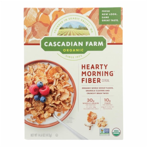 Cascadian Farm Organic Hearty Morning Fiber Cereal (10 Pack) Perspective: front