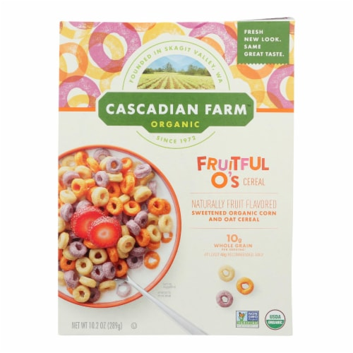 Cascadian Farm Organic Cereal - Fruitful Os - Case of 10 - 10.2 oz Perspective: front