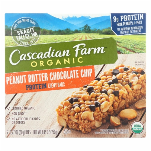 Cascadian Farm Organic Chewy Bars - Honey Roasted Nut - Case of 12 - 8.85 oz Perspective: front