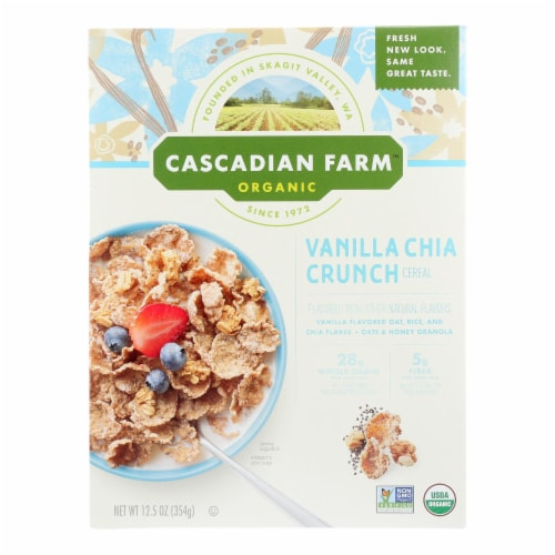 Cascadian Farm Organic Vanilla Chia Crunch Cereal Perspective: front