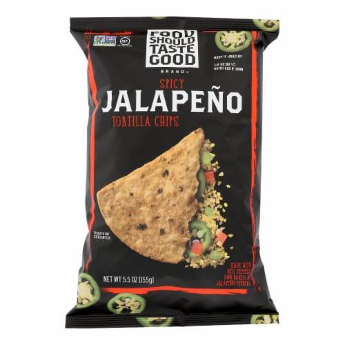 Food Should Taste Good Jalapeno Tortilla Chips (12 Pack) Perspective: front