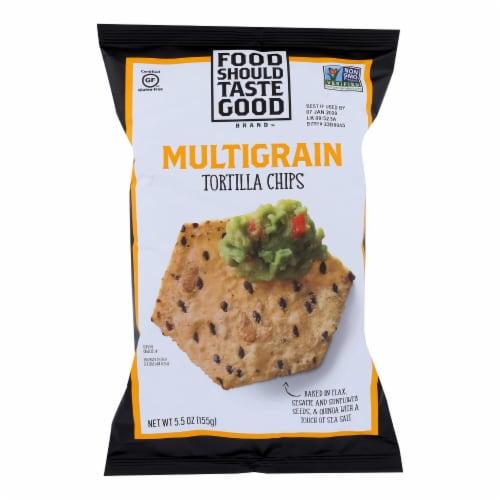 Food Should Taste Good Multigrain Tortilla Chips (12 Pack) Perspective: front