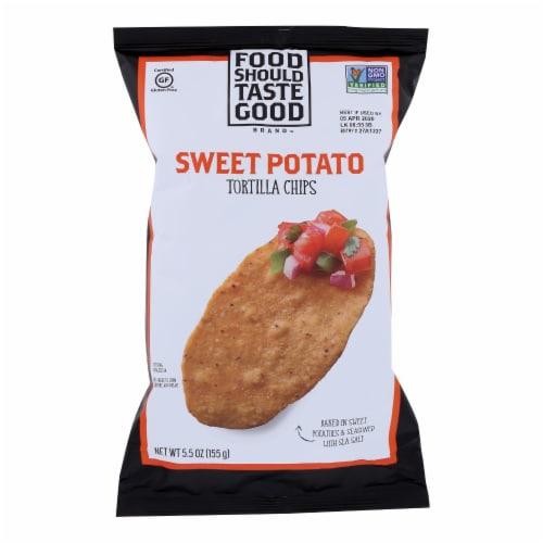 Food Should Taste Good Sweet Potato Tortilla Chips (12 Pack) Perspective: front