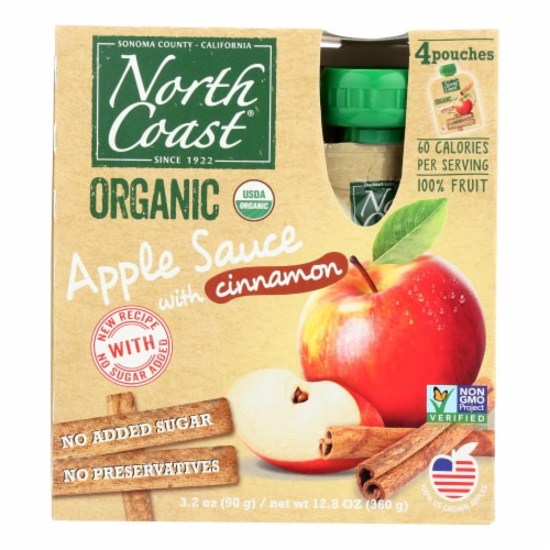 North Coast - Apple Sauce Cinnamon - Case of 6 - 4/3.2 OZ Perspective: front
