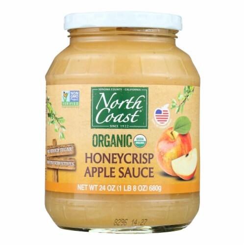 North Coast Organic Honeycrisp Apple Sauce  - Case of 6 - 24 OZ Perspective: front