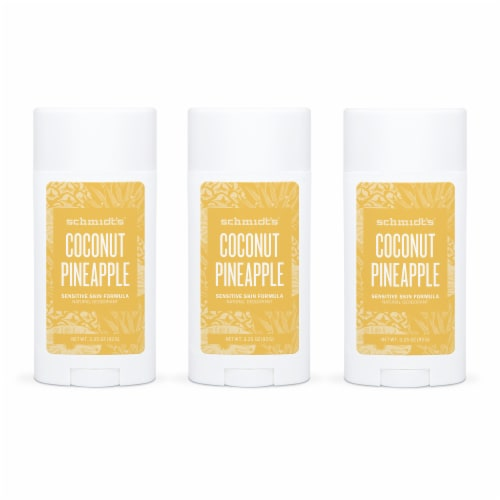 Schmidt's Coconut Pineapple Sensitive Skin Formula Natural Deodorant Perspective: front