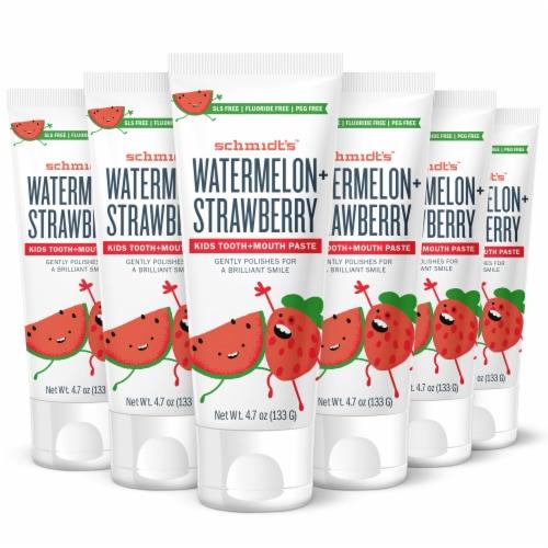 Schmidt's Kids Toothpaste - Watermelon & Strawberry Perspective: front
