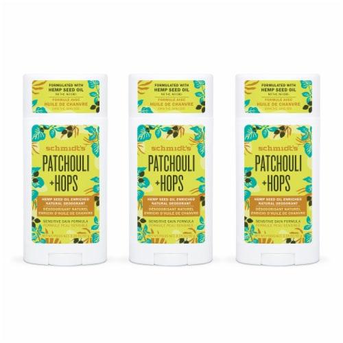 Schmidt's Patchouli & Hops Antiperspirant Deodorant Stick Perspective: front