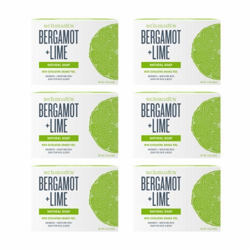 Schmidt's Bergamot + Lime Soap Bars Perspective: front