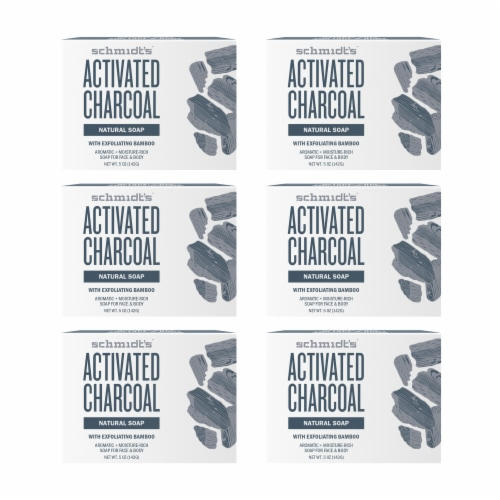 Schmidt's Activated Charcoal Soap Bars Perspective: front