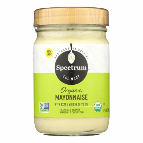 Spectrum Naturals Organic Olive Oil Mayonnaise - Case of 12 - 12 oz. Perspective: front