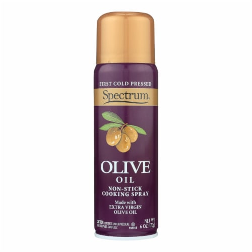 Spectrum Naturals Extra Virgin Olive Spray Oil - Case of 6 - 6 Fl oz. Perspective: front
