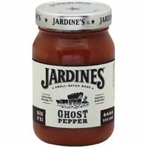 Jardines Gluten Free Ghost Pepper Salsa, 16oz (Pack of 6) Perspective: front