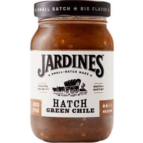 Jardines Hatch Green Chile Medium, 16 oz(Pack of 6) Perspective: front