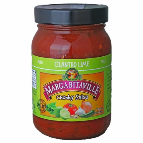 Margaritaville Chunky Salsa Cilantro Lime, 16oz (Pack of 6) Perspective: front