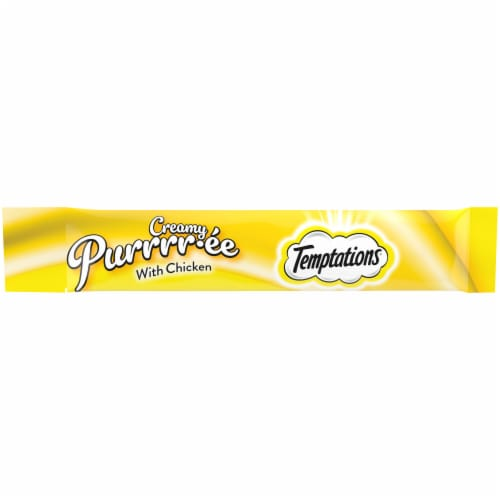 Temptations Creamy Chicken Purrree Cat Treat Pouches Perspective: front