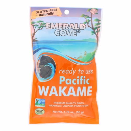 Emerald Cove Sea Vegetables - Pacific Wakame-Silver Grade - Ready to Use - 1.76oz - Case of 6 Perspective: front