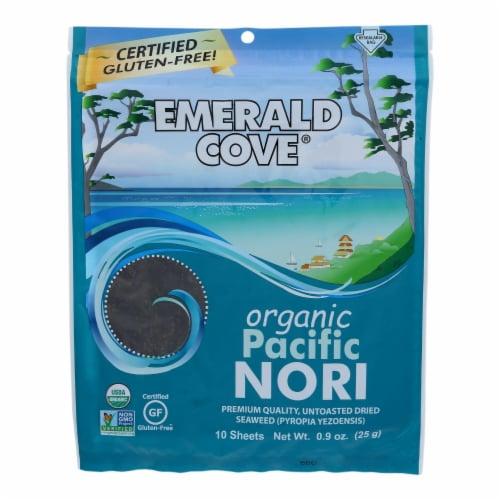 Emerald Cove Organic Pacific Nori - Untoasted Hoshi - Silver Grade - .9 oz - Case of 6 Perspective: front