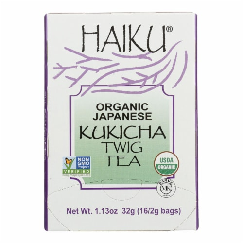Haiku Tea - Organic - Kukicha Twig - 16 bags - case of 6 Perspective: front