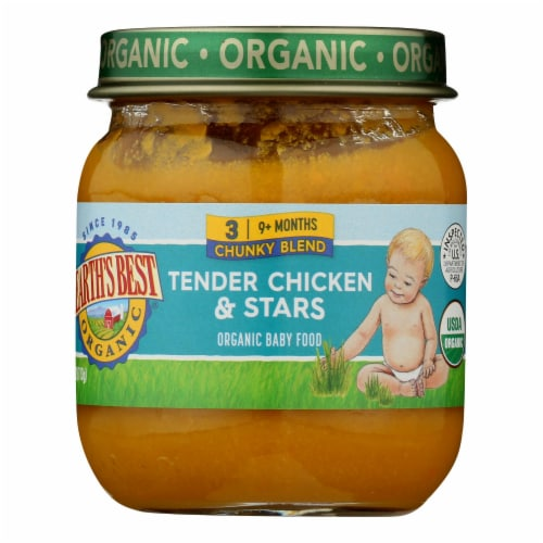 Earth's Best - Stage 3 Tender Chicken & Stars - Case of 10-4 OZ Perspective: front