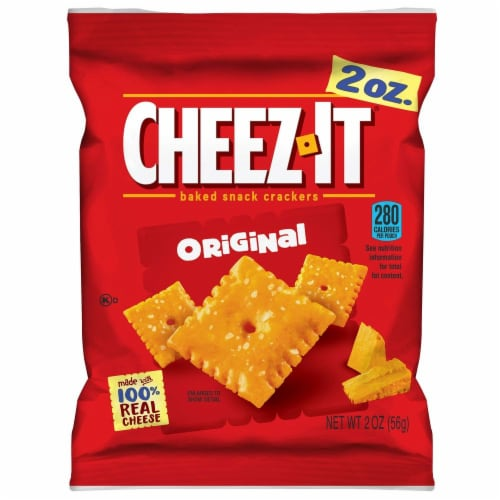 Cheez-It Original Baked Snack Crackers - 2 oz. bag, 60 per case Perspective: front