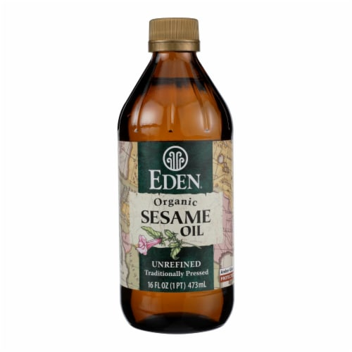 Eden Foods 100% Organic Sesame Oil - Case of 12 - 16 fl oz Perspective: front