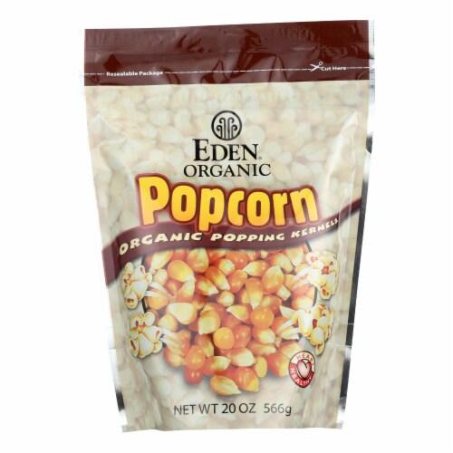 Eden Foods 100% Organic Yellow Popcorn - Case of 12 - 20 oz Perspective: front