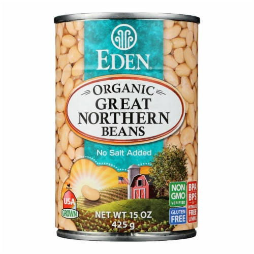 Eden Foods Great Northern Beans Organic - Case of 12 - 15 oz. Perspective: front
