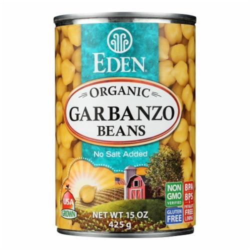 Eden Organic Garbanzo Beans  - Case of 6 - 15 OZ Perspective: front