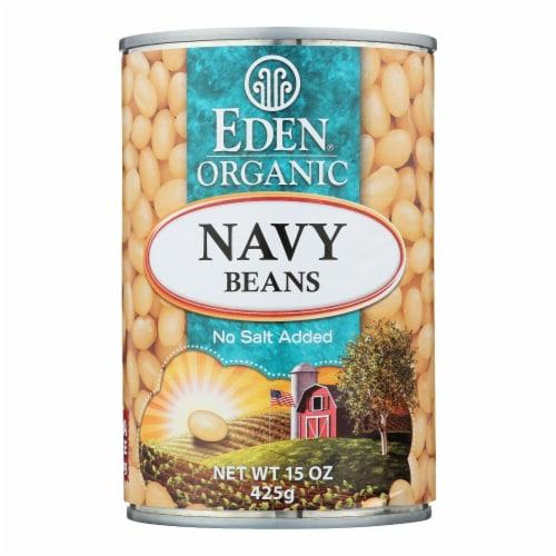 Eden Foods Navy Beans - Organic - Case of 12 - 15 oz. Perspective: front