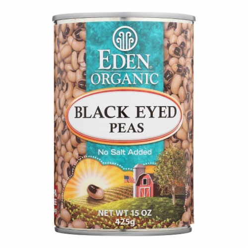 Eden Foods Organic Black Eyed Peas - Case of 12 - 15 oz. Perspective: front