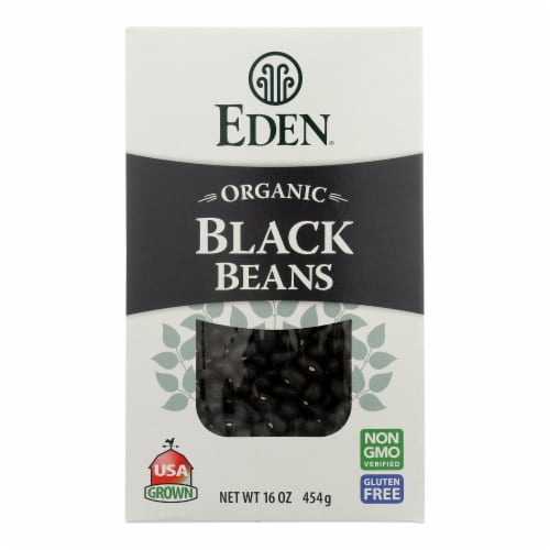 Eden Organic Dry Black Turtle Beans  - Case of 12 - 16 OZ Perspective: front