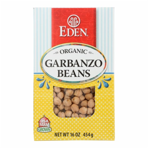 Eden Foods - BeansGarbanzo Dry - Case of 12-16 OZ Perspective: front