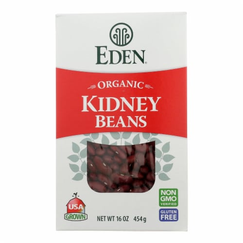 Eden Foods - Beans Kidney Dry - Case of 12 - 16 OZ Perspective: front